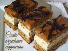 Trzeci Talerz: Ciasto orzechowe cappuccino Walnut Cake, Polish Recipes, Polish Food, Biscotti, Tiramisu, Sweet Tooth, Cheesecake, Food And Drink, Cooking Recipes