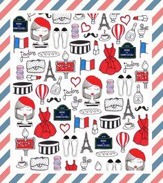 #Paris #Illustration #Chanel #Doodles #France