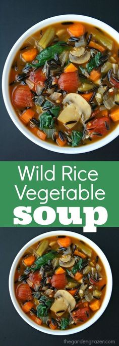 We often see wild rice in heavy, creamy soups, but it makes a fantastic addition to lightened up vegetable soups as well. The hearty tex...