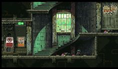London Underground vertical shafts I always wanted to create my own version of the classic Castlevania staircase backgrounds, even cooler if that gets t. The Mummy Demastered - 17 Environment Concept Art, Environment Design, Pixel Art Background, Pix Art, Pixel Games, Game Design, Art Tutorials, Game Art, Scenery