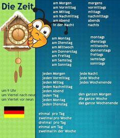 Learn German with us! German Grammar, German Words, German Resources, Study German, Germany Language, German Language Learning, New Things To Learn, Kids Learning, Teaching