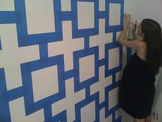 Jonathan Adler-ish wall using just tape