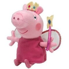 Ty Beanie Babies Princess Peppa Plush: The world famous Beanie Babies are forever filled with fun! Ultra iconic, ever loved. Ty Beanie Babies are the best! Ty Beanie Boos, Beanie Babies, Princess Beanie Baby, Baby Princess, Peppa Pig Princesa, Ty Plush, Tk Maxx, Dinosaur Stuffed Animal, Stuffed Animals