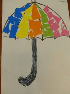Umbrella craft for preschoolers Kindergarten Crafts, Preschool Crafts, Artist Project, Paper Umbrellas, Famous Artists, Home Crafts, Umbrella Crafts, Creative, Projects