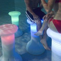 The Pool Stool Underwater Pool Chair!