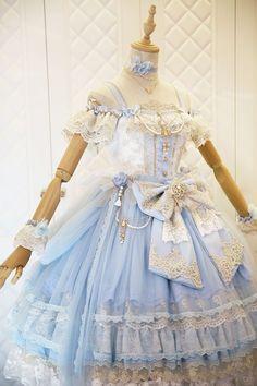 The Nine Songs -The Butterfly Princess- Gorgeous Vintage Classic Lolita Jumper Dress,Lolita Dresses, Kawaii Fashion, Lolita Fashion, Cute Fashion, Pretty Outfits, Pretty Dresses, Beautiful Dresses, Kawaii Dress, Kawaii Clothes, Cosplay Dress