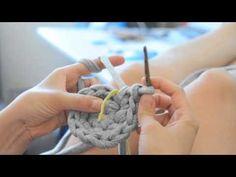 DIY Basket tutorial . Schale/Korb stricken und häkeln mit Zpagetti Teil 1 - YouTube