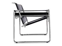 The Wassily Chair, also known as the Model B3 chair, was designed by Marcel Breuer in 1925-1926 while he was the head of the cabinet-making workshop at the Bauhaus, in Dessau, Germany. Despite popular belief, the chair was not designed for the non-objective painter Wassily Kandinsky, who was concurrently on the Bauhaus faculty.