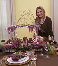 If you would likea unique display for your Thanksgiving table, consider making my miniature birch arborcenterpiece, filled with foraged flowers, fruits and vegetables. The centerpiece i…