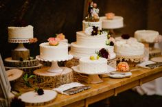Look at all those cakes!   Style Me Pretty | GALLERY & INSPIRATION | GALLERY: 12027 | PHOTO: 940140