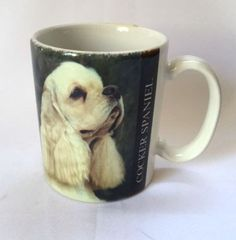 Cocker Spaniel Coffee Cup Mug Dog Verse Pets Animal PhotoBarbara Augello Vintage 1994