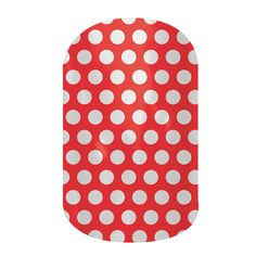 Poppy & White Polka Jamberry Nails Wraps. Lasts up to 2 weeks on fingernails and 4 weeks on toenails. Buy it here: http://easycutenails.jamberrynails.net/home/ProductDetail.aspx?id=1650#.UtRNbLTWvCQ
