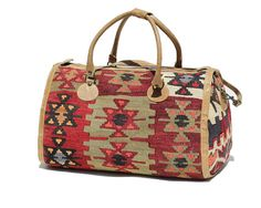 Vintage Turkish Kilim Tote Carry Bag / Kilim & by TanakaVintage