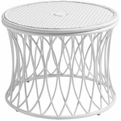 patio side table with umbrella hole white 160
