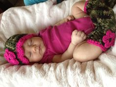 Baby Girl Hat and Boots Camouflage and by ButterflyKisses4Baby, $24.00