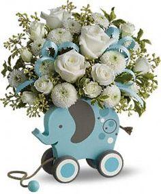 MiGi Baby Blue Elephant and #flowers by Teleflora   http://www.teleflora.com/flowers/bouquet/migi-baby-elephant-by-teleflora--blue-372767p.asp