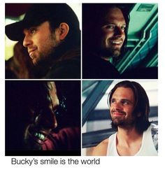 Bucky's smile. (Somehow makes me want to cry...thinking about what he's been through, and he finally could smile again.)