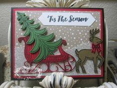 Santa's Sleigh www.karenangel.stampinup.net www.karensangelicimpressions.blogspot.com www.facebook.com/StampinUpwithKarenangel