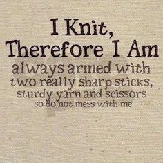 The post itself is not meant to be funny. It's tips on knitting on the go (check it out!). But that I liked that little joke a lot so the image goes into knitting humor. ;)