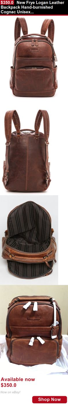 Unisex accessories: New Frye Logan Leather Backpack Hand-Burnished Cognac Unisex Men Women BUY IT NOW ONLY: $350.0