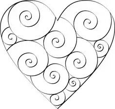 A heart template or stencil can be used as a pattern for a holiday decoration, a craft project or even as a coloring page that the kids can decorate.Idea for string for Zentangle Don't Eat the Paste: Swirl Hearts to ColorDon't Eat the Paste has lots of fr Embroidery Hearts, Embroidery Patterns Free, Hand Embroidery, Embroidery Designs, Felt Patterns, Free Mosaic Patterns, Knitting Patterns, Print Patterns, Beginner Embroidery