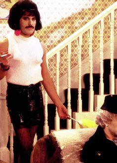 Happy Birthday legendary rocker Freddie Mercury! Here he is rocking a mini skirt!! #freddiemercury #queen