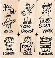 Hero Arts Woodblock Stamp Set, Hero Kids for Teachers >>> Find out more about the great product at the image link. Teacher Stamps, Teacher Office, Eraser Stamp, Teachers Corner, First Year Teachers, Becoming A Teacher, Arts And Crafts Supplies, Ink Pads, Hero Arts