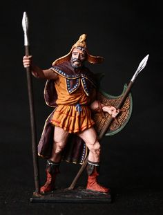 Greek Thracian Peltast Tin soldier 54 mm, figurine, metal sculpture. #Spbdolls