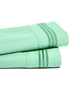 Shop72 - Bamboo Bed Sheet Luxury 2200 Embroidered Like Softness Egyptian Cotton - Turquoise/Full Size