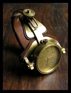"German watches (̏◕◊◕)̋ pretty sweet. Steampunk ""Archimedes"" watch by Rodin van Lieshout Steampunk Watch, Steampunk Fashion, Cool Watches, Watches For Men, Beautiful Watches, Luxury Watches, Mens Fashion, Dieselpunk, Pocket Watches"