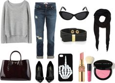 """Running Late"" by montgomerykan on Polyvore"
