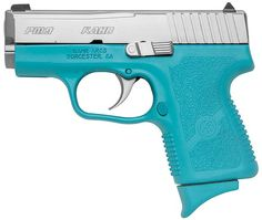 Oh hello Robin's Egg Blue 9mm!! I'd rather have a blue gun than a pink one.