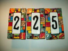 Decorative Tile House Numbers Classy Plaques Store  Old Spanish House Number Plaque $20900