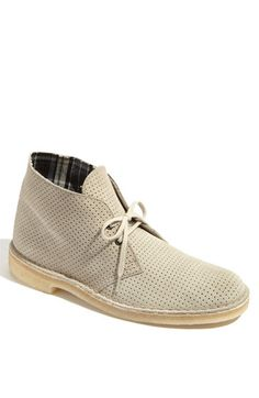 I started wearing perforated shoes in 2011. I'm loving these suede chukkas!