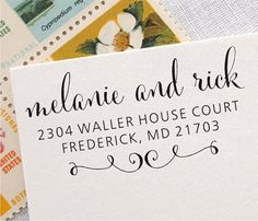 Custom Address Stamp - Wedding Stamp - Self Inking Return Address Stamp (020) on Etsy, $21.95