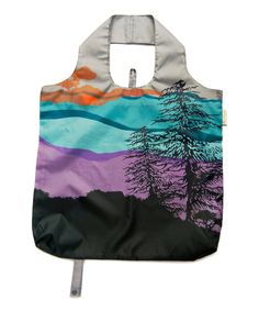 Love this Purple & Blue Tree of Life Reusable Shopping Bag by b.b.begonia on #zulily! #zulilyfinds