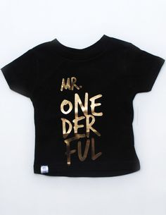 Boy Mr Onederful Tee Classy And Modern Birthday By PDS113 Baby 1st
