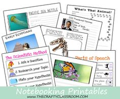 FREE Notebooking Printables