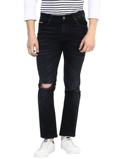 THE TORN HEART RIPPED DENIMS #men #denim #torn #ripped #sharp #smart #casual #solid #washed #classy #buy #online  For more visit mrbutton.in/product-category/denim/