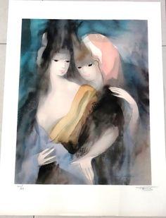Marie Laurencin, Gravure d interpretation, Chale noir