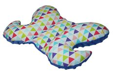 Poduszka+antywstrząsowa–+Minky+granat/+Trójkąty+w+Mayabel+na+DaWanda.com Backrest Pillow, Pillows, Bed, Etsy, Stream Bed, Cushions, Beds, Pillow Forms, Cushion