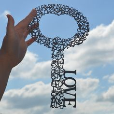 Love is the key - a unique paper cut incorporating over 100 tiny keys. £140.00