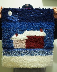 ryijy | Curiouser & Curiouser Rya Rug, Wool Rug, Latch Hook Rugs, Rug Hooking, Bucket Lists, Diy Party, Pergola, Textiles, Embroidery