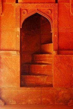 Moroccan doorway. | orange on We Heart It.