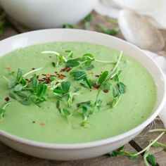 This Thai pea soup is made completely in the blender and full of fresh spring flavor. With ginger, lemongrass, coconut milk, jalapenos and peas, you'll want a big bowl.