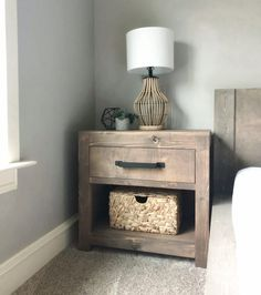 DIY Modern Farmhouse Nightstand - Shanty 2 Chic
