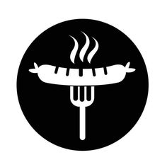 Sausage Grilled With Fork Icon, Icon, Salami, Vector PNG y Vector para Descargar Gratis Windmill Art, Kielbasa, Bratwurst, Stained Glass Patterns, Logo Design, Graphic Design, Fork, Barbecue, German Store