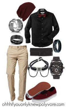 """Untitled #27"" by ohhhifyouonlyknew ❤ liked on Polyvore featuring Vision, BOSS Orange, Calvin Klein, Topman, Blue Nile, Vans, FOSSIL, my style, casual and my creation"
