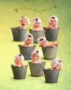 Eight Maids a-Milking, by Anne Geddes.