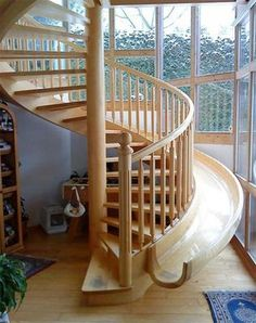 Something to put in my house one day! A slide and stairs in one! So cool.